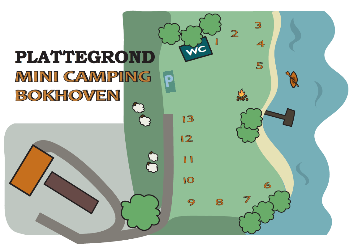 Plattegrond Minicamping Bokhoven